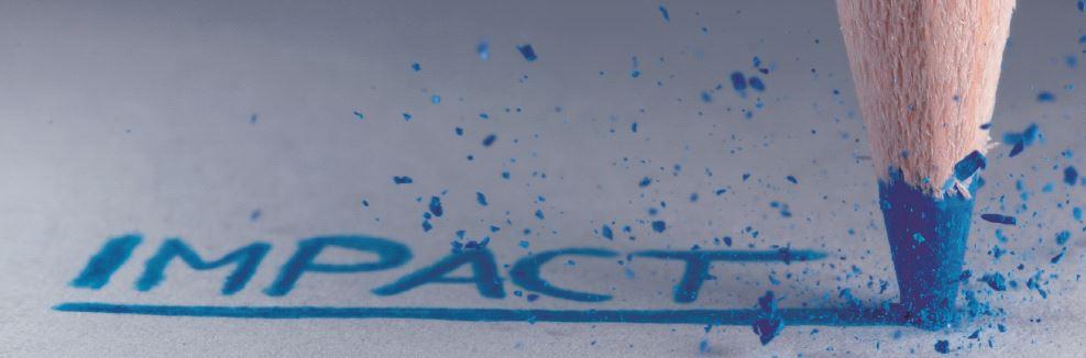 Impact in blue pencil