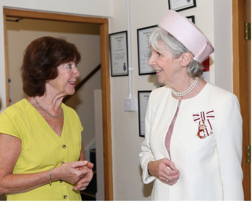 Patron Lorne Rolfe with Lord Lieutenant of Essex Jennifer Tolhurst